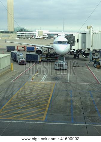 Airplane At The Gate
