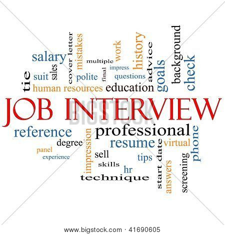 Job Interview Word Cloud Concept
