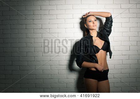Skinny Beautiful Model Posing