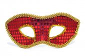 stock photo of carnivale  - a carnival mask on a white background - JPG