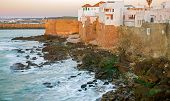stock photo of asilah  - Long exposure at sunset in Asilah and atlantic ocean in Morocco - JPG