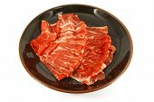 stock photo of wagyu  - Wagyu Beef Strips Also Known as Kobe Meat - JPG
