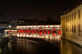 Night Illumination Of Barrage Vauban (vauban Weir), Strasbourg - Alsace, France