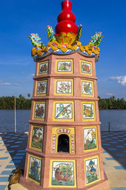 pic of hangul  - Colourful dragon sculptures of Chinese ancient history at Chachoengsao Thailand - JPG