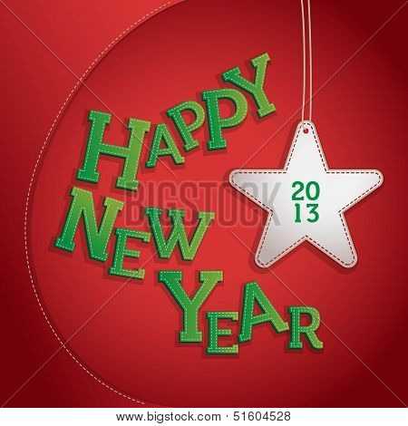 Happy New Year 2013 Patchwork Illustration