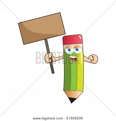 Vector Pencil Mascot