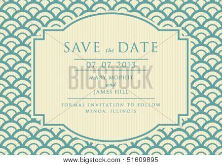 Vintage elegant Save the Date