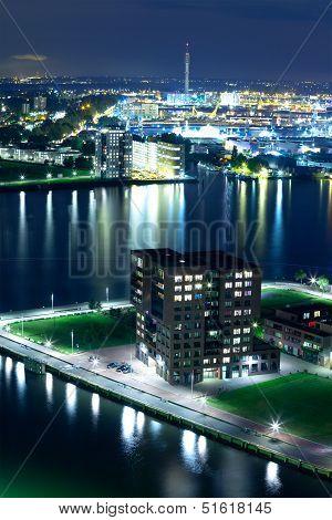 Rotterdam By Night, The Netherlands