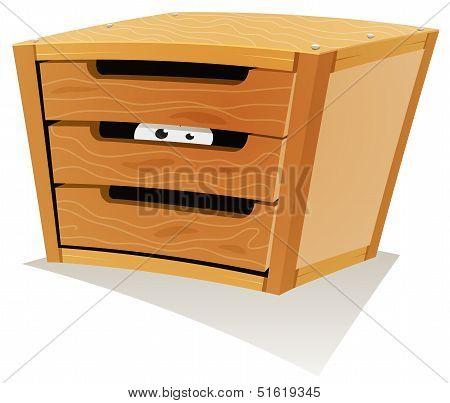 Eyes Inside Wood Drawer