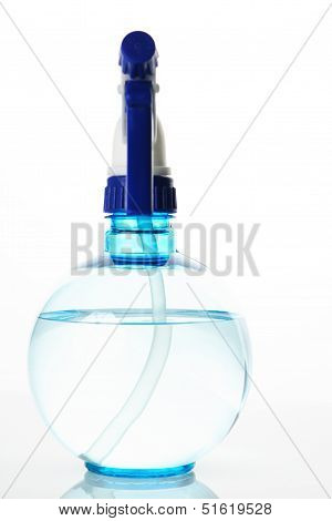 Spray Bottle On White With Reflection