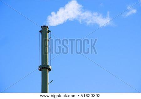 Smokestack Blue Sky