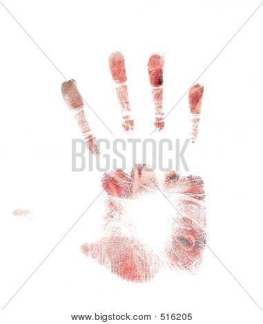 Floral Handprint