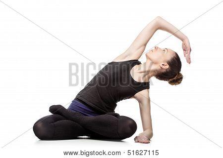 Caucasian Woman Exercising Pilates