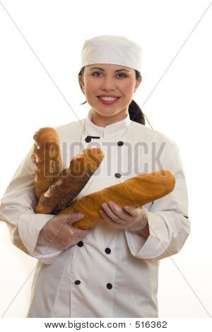 Girl With Bread Sticks