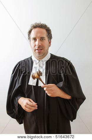 Lawyer With Gavel
