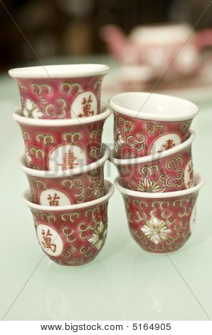 Stacks Of Tea Cups