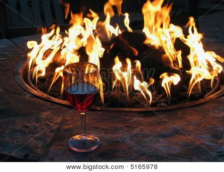 Wine Gass And Fire Pit