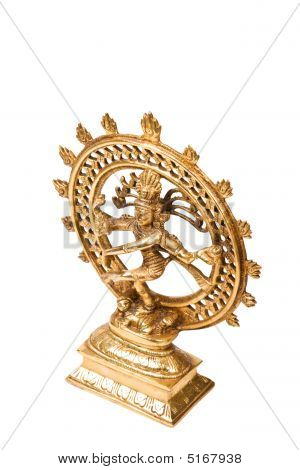 Statue von Lord Shiva Nataraja des Tanzes isoliert