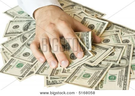 Greedy Hand Grabs Money