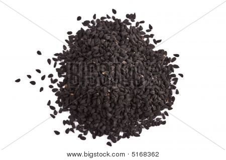 Pile Of Kalinji Spice Isolated