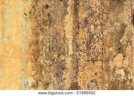 Dirty Yellow Concrete Wall