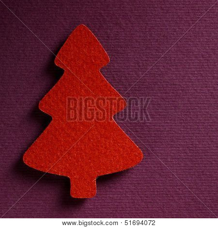Christmas tree paper cutting design card., papercraft theme