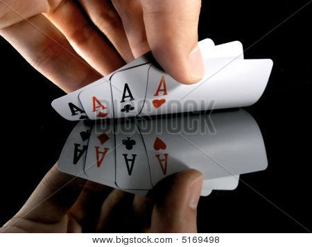 Four Aces In The Hands