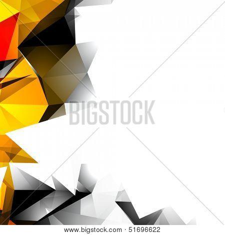 Abstract Autumn Triangular Background