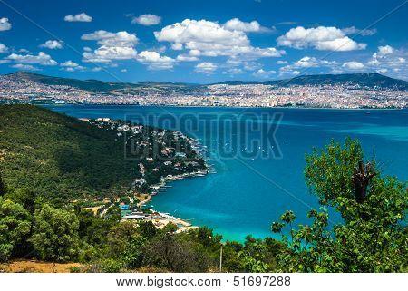 Marmarea Sea And Istanbul, Turkey
