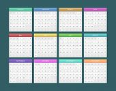 foto of calendar 2014  - Vector illustration of Calendar for 2014 eps 10 - JPG