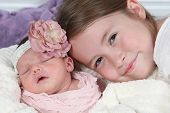 stock photo of little sister  - Sisters  - JPG