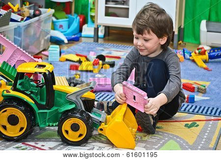 Boy And Toys