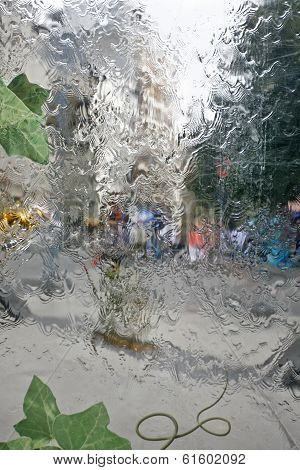 Water Wall And People