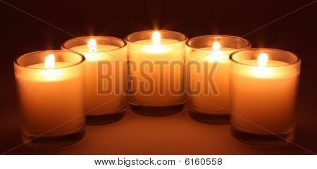 Warm Lighted Candles