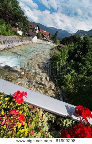 Partnach River In Garmisch-partenkirchen