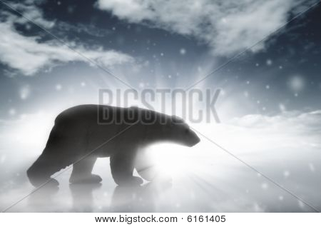 Polar Bear In A Snow Storm