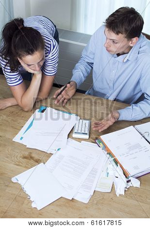 Couple with financial problems