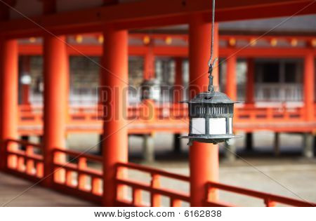 Traditonal Japanese Lantern At Ktsukushima Shrine