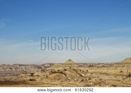 Landscape of brown canyons