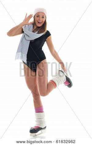 Woman With Skates