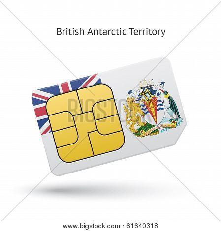 British Antarctic Territory phone sim card with flag.