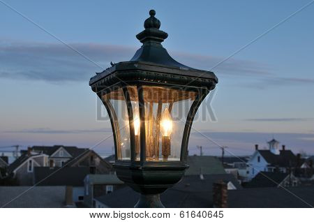 Lamp At Twilight