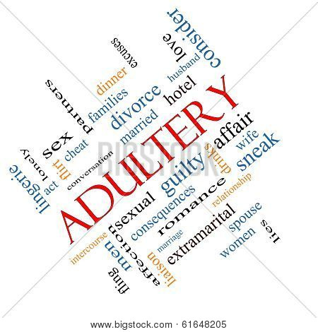 Adultery Word Cloud Concept Angled