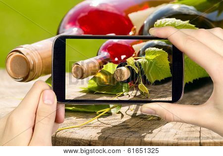 Wine Bottles Through Mobile Phone