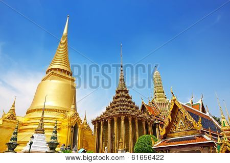 Wat Phra Kaew, Temple Of The Emerald Buddha. The Grand Palace Bangkok Thailand