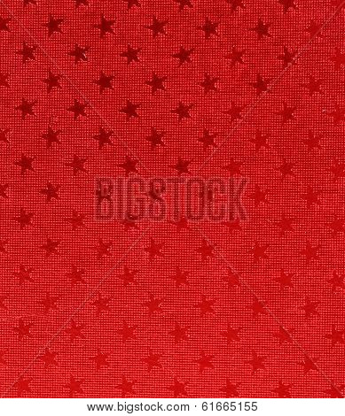 Asterisks on red background.