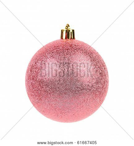 Pink dull christmas ball