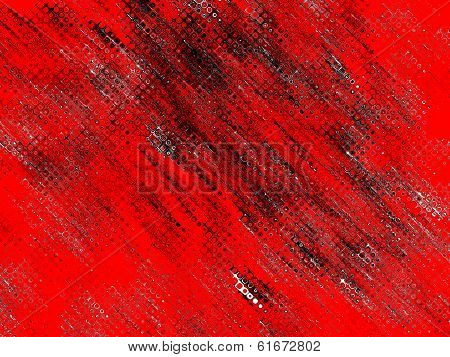 Red Abstract Background With Black Drips.
