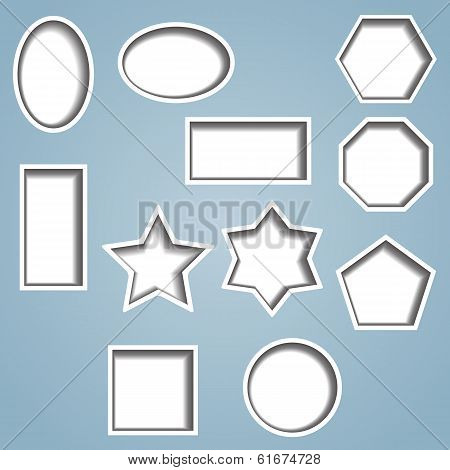 Set Of 11 Cut Out Shapes