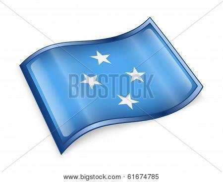 Micronesia Flag Icon.